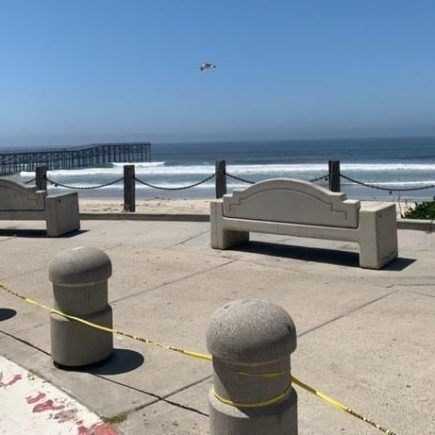 Las playas de San Diego, totalmente vacías/Mayra Preciado